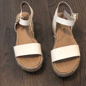 Women's soda white platform sandals